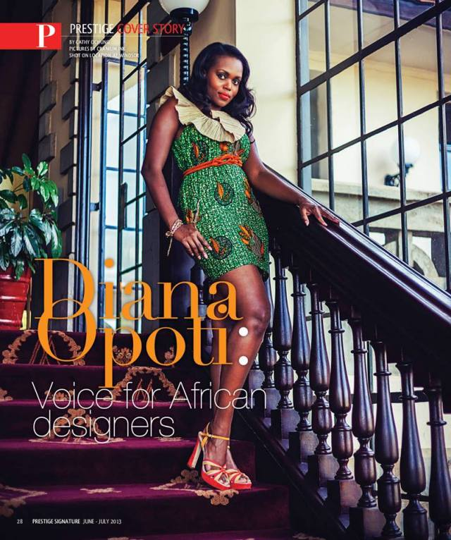 Diana Opoti, a Kenyan brand strategist and host of a pan-African fashion television programme called Designing Africa.