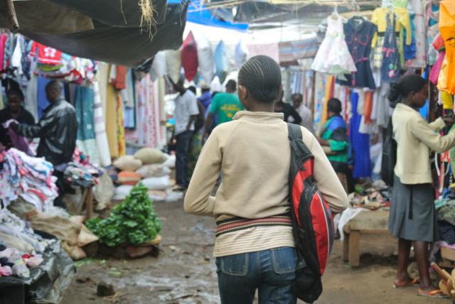 Toi Market. Nairobi's largest second retail hub. (Photo Credit: Katrina Shakarian)